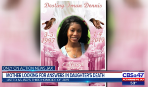 Destiny Dennis, Jacksonville Gas Station Shooting