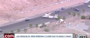 SUV/Semi-truck Accident Near Las Vegas Motor Speedway Leaves One Person Dead.