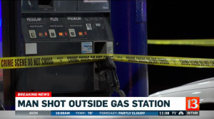 Indianapolis Gas Station Shooting Leaves One Man in Critical Condition.