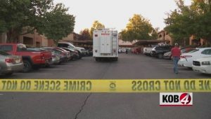 Gun Shots Fired Through Albuquerque Apartment door Leaves One Man Dead.
