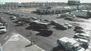 Las Vegas Car Accident on West Sahara Avenue Causes Injuries.
