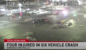 Las Vegas Car Accident at Nellis Boulevard and Bonanza Road Leaves Multiple People Injured.