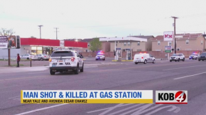 Albuquerque, NM Gas Station Shooting Fatally Injures One Man.