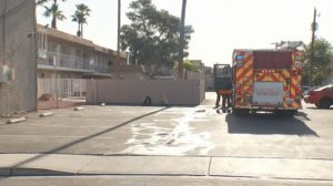Las Vegas Elderly Man Injured in Apartment Fire.