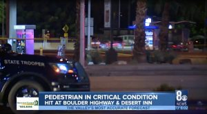 Las Vegas Pedestrian Accident at Boulder Highway and Desert Inn Road Leaves One Person Injured.