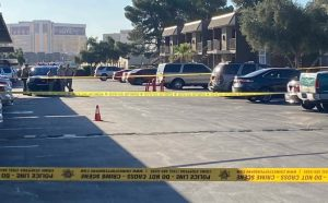 Las Vegas Apartment Complex Shooting Leaves One Man Seriously Injured.