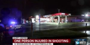 Charlotte, NC Gas Station Shooting Leaves One Person Injured.