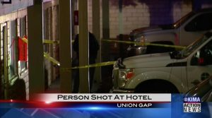 Union Gap, WA Hotel Shooting Injures One Person.