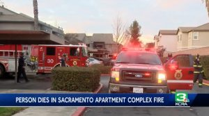 Sacramento, CA Apartment Fire Claims Life of One Person.