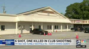 Houston, TX Nightclub Shooting Claims One Life, Injures Five Others.