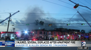 Tracy Nichols, Saul Rodriguez Injured in Pasadena, TX Apartment Complex Fire.